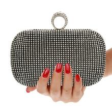 Evening Clutch Bags Diamond-Studded Evening Bag with Chain Shoulder Bag Women's Handbags Wallets Evening Bag for Wedding studded decor glitter shoulder bag