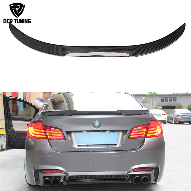 F10 Spoiler M4 Style For BMW F10 Carbon Spoiler 2010 - 2016 F10 M5 Spoiler Carbon Fiber Rear Trunk Spoiler M Series F90 M5 2018+ stylish ethnic style handpainted flowers pattern multicolor voile scarf for women