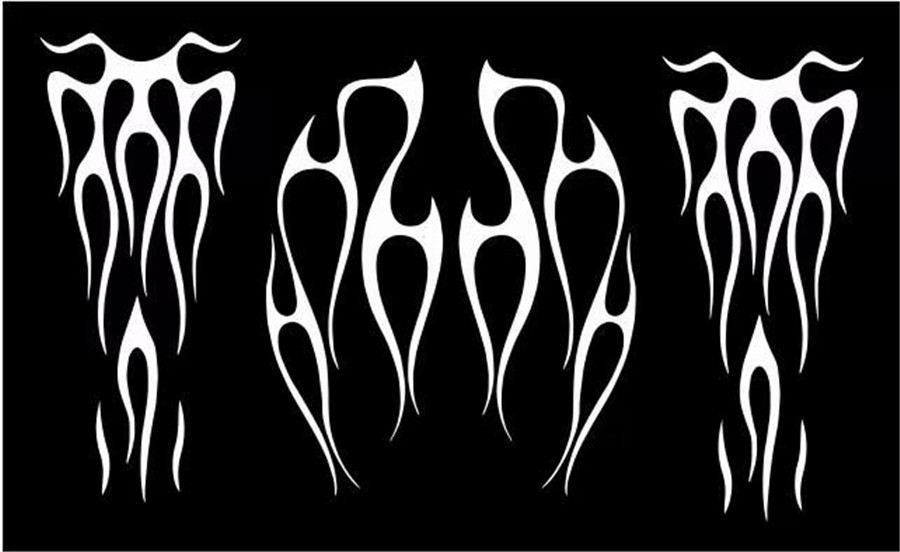 Motorcycle Flame Gas Tank Decals Stickers For Honda Shadow Vt750 Universal