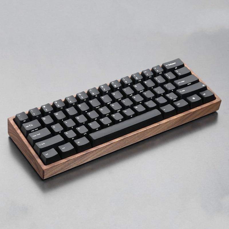 купить GH60 Mechanical Keyboard Case Solid Wooden Shell Mini 60% Wrist Rest Wood Case Wooden Frame Compatible For Poker 2 по цене 3248.92 рублей
