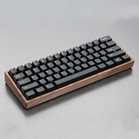 GH60 Mechanical Keyboard Case Solid Wooden Shell Mini 60% Wrist Rest Wood Case Wooden Frame Compatible For Poker 2