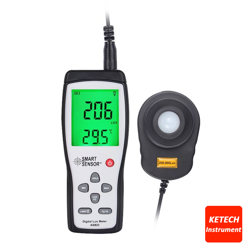 Digital Lux Meter Light Meter Illuminance Flow Meter Light Measurement 1~100.000lux AS823 fast arrival victor illuminance meter vc1010b meter meter lumens tester illuminance meter brightness table