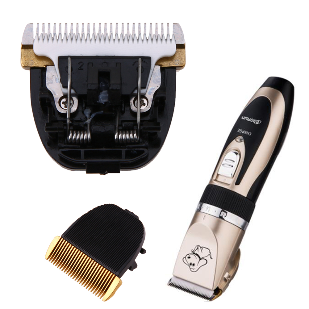 Professional Electric Pet Dog Hair Trimmer Clipper Animals Grooming Machine Original Ceramic Blade Cut Head Dog Clipper Blades