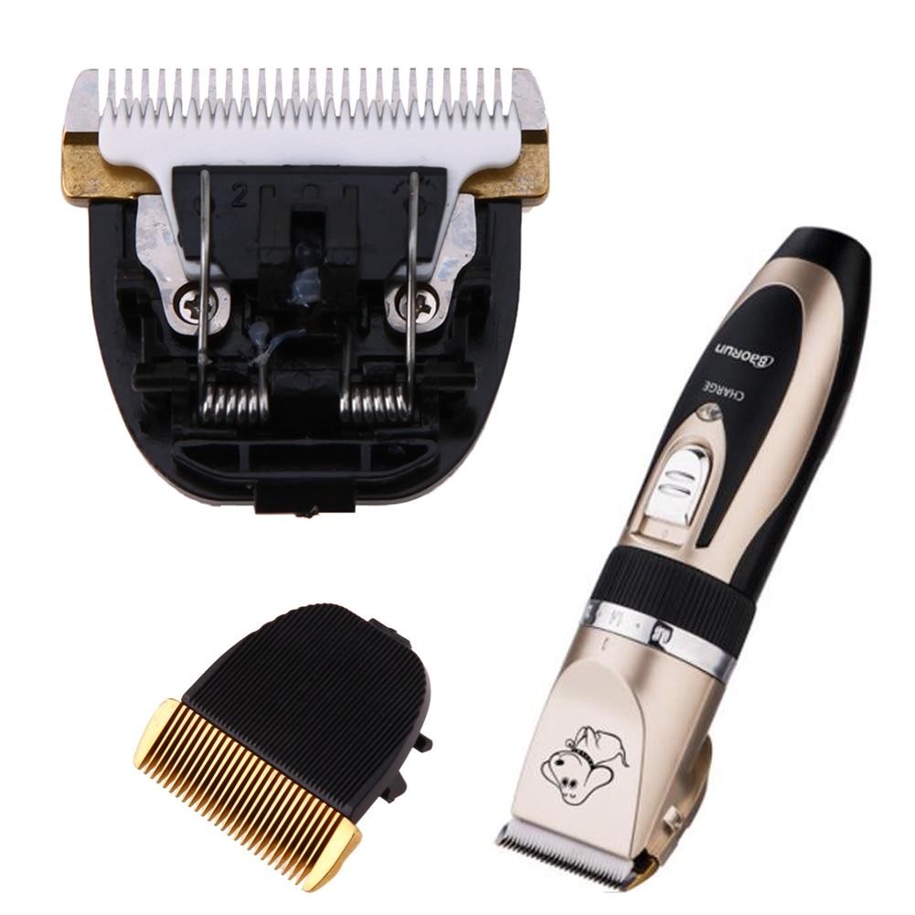 Professional Electric Pet Dog Hair Trimmer Clipper Animals Grooming Machine Original Ceramic Blade Cut Head Dog Clipper Blades