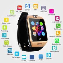 1aa8689dd498 Reloj inteligente Bluetooth Q18S con cámara TF SD ranura para tarjeta SIM  Monitor de sueño pantalla táctil teléfono reloj hombre.