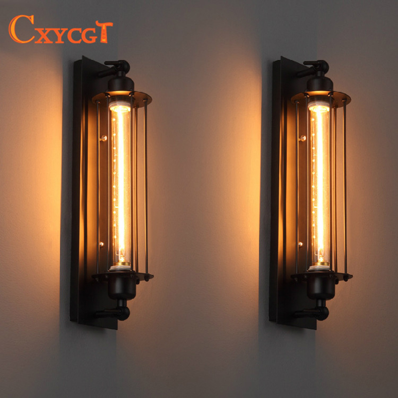 Vintage Industrial Wall Lamp Light Iron Wall Sconces Lighting for Bedroom Kitchen Corridor Flute Retro Style Bedside Lamp new arrival retro style restaurant coffee shop decoration iron wall lamp 40w e27 corridor bedside wall sconces lighting