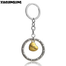 XIAOJINGLING Fashion Family Pendant Key Chain HOPE TRUST LOVE DREAM Keychain Charm Keyring Ring Trinket Brother Graduation Gifts(China)