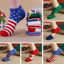 Hot Cute Baby Socks High Quality American British Flag Men's Cotton Stars Stripes USA Socks Old Glory Casual Wear Flag Socks(China)