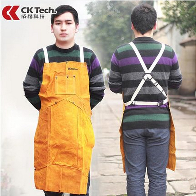CK Tecnologia De Soldadura De Trabalho Avental Avental Avental Avental de Solda de Segurança Soldador Uniforme Vestuário de Protecção À Prova de Poeira Roupa de Trabalho 6101