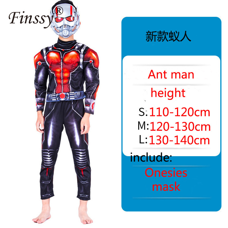 Ant Man Cosplay Costume Avengers Onesies Halloween Carnival Masquerade Birthday Party Clothing Gift for children