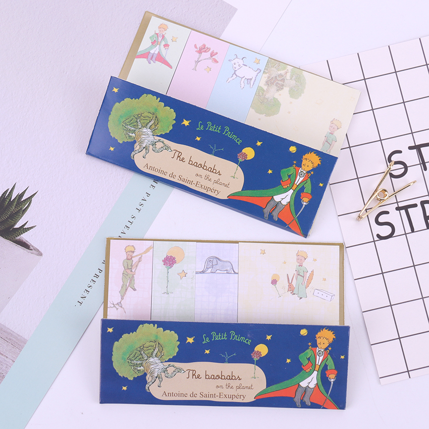 1PC Cartoon Little Prince Memo Pad Sticky Notes Paper Sticker Notepad Kawaii Stationery Office School Supplies