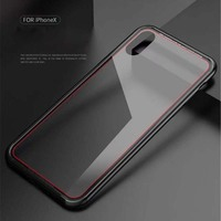 Original Luphie Brand Case Soft TPU Transparent Tempered Glass Back Mobile Phone Case Cover For Iphone