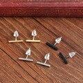 Punk Black Gold And Silver Earrings Simple T-earrings Woman Girl Earrings Long Temperament Straight Stick Earrings Fine Jewelry