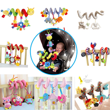 Multi-style Soft 0-12 months Baby Toy Spiral Bed&Stroller Car Seat Hanging Bebe Educational Rattle Toys For Newborns Gifts