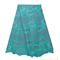 African lace fabric swiss voile lace high quality aqua suisse voile nigerian fabric with stones embroidery lace fabric