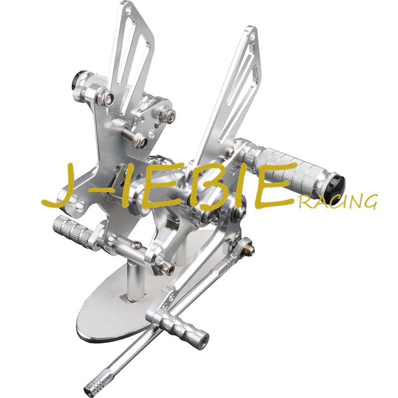 CNC Racing Rearset Adjustable Rear Sets Foot pegs Fit For Kawasaki NINJA ZX10R 2011 2012 2013 2014 2015 SILVER morais r the hundred foot journey