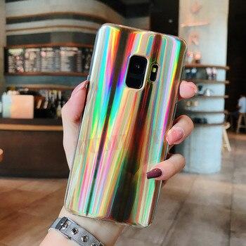 Galaxy S9 Case Rainbow Super Slim Silver Soft TPU Protective Cover