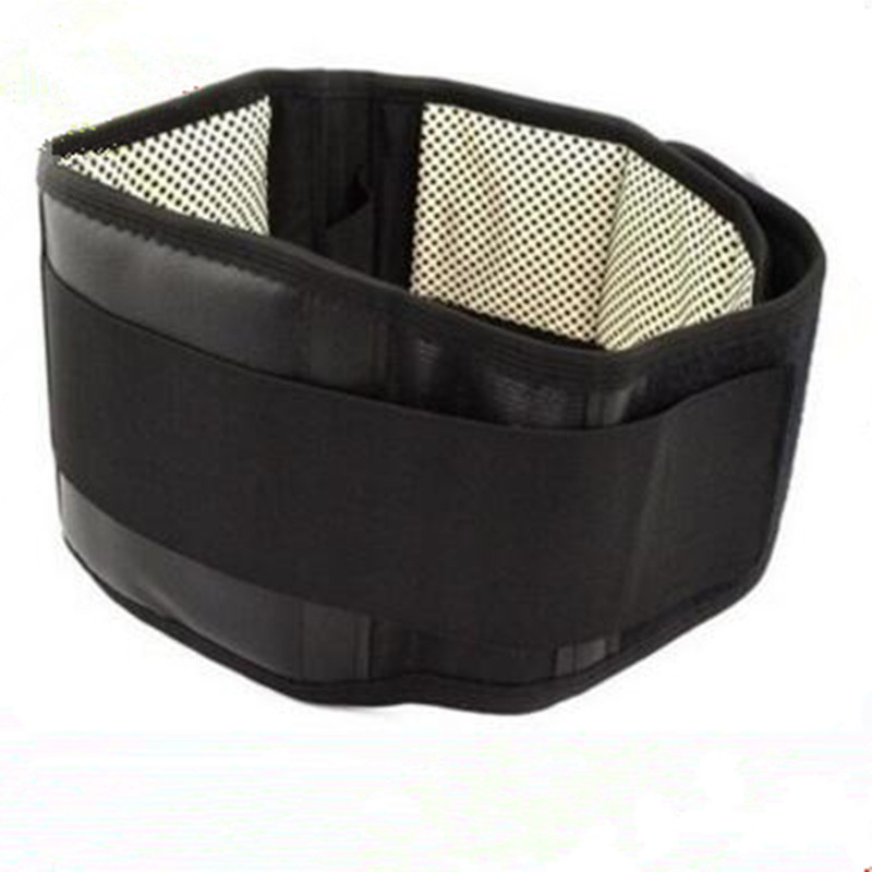 Tourmaline Magnetic Self-heating Belt For The Back Tourmaline Waist Product Therapy Ceinture Support Brace lumbar Massager double pull lumbar support lower back belt brace band waist four aluminium strips protection back waist support belt yw 01m27