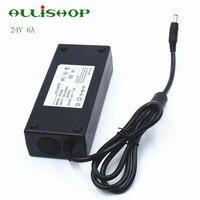 ALLiSHOP High Quality 24v 6a Dc CCTV Power Supply Switching Desktop Au Eu Us Uk Plug