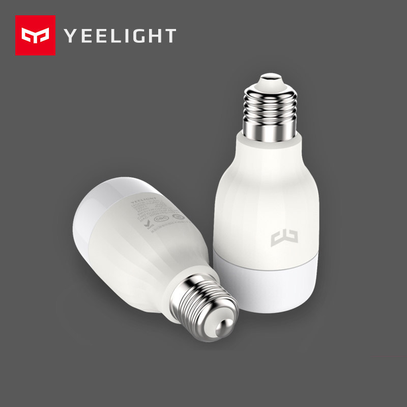 XiaoMi Yeelight LED Smart Bulb (nature white) 8W E27 WiFi Remote APP Control Dimmable Eye-Care Home Decoration Reading baby care nature eucalyptus 8 119х60х8