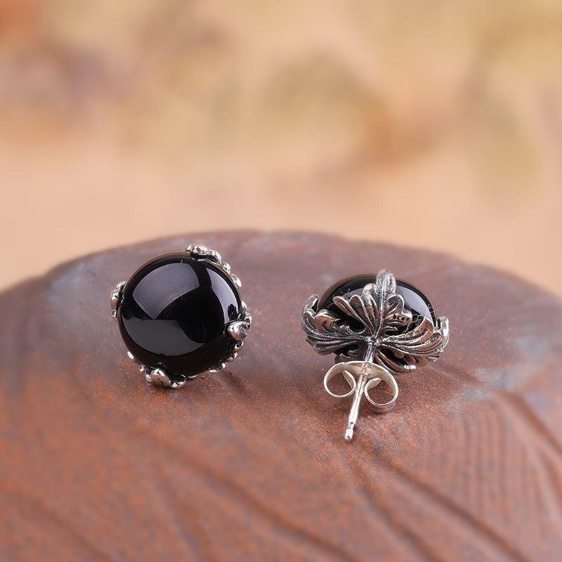 L & P 2019 nouvelle mode véritable argent grenat boucles d'oreilles pour dame Original DeElegance 925 Sterling-argent luxe bijoux fins - 5