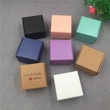 50 pçs/lote pequena embalagem de papelão kraft caixa de presente mini adorável aircaft caixa de papel artesanal caixa de embalagem de sabão