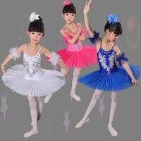 New Children Ballet Tutu Dress Fluffy White Girl Swan Lake Ballet Dance Costume Chromatic Ballet Bitter