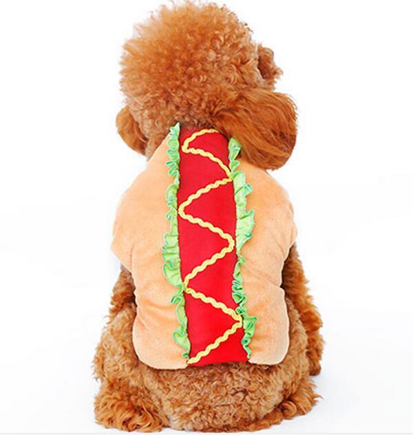 Dogs cats fashion cute funny costume coats doggy Hamburger jackets puppy coats festival apparel pets suit 1pcs XS S M L XL