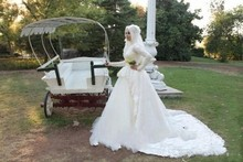 2017 Vestido De Noiva Renda Reserved Ball Gown Lace High Neck Long Sleeves Bridal Dubai Islamic Muslim Kaftan Wedding Dresses