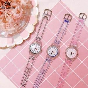 New Women Watch Tri-color Transparent Cute relogio feminino Small Fresh reloj mujer Refinement Compact Round ladies watch SW-14
