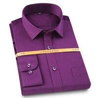 100% Cotton Long Sleeve Shirts Mercerized Cotton Men Dress Shirt High Quality Easy Care Non Iron Male Social Formal Shirt Casual