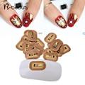 10pcs Fashion 3d NFC Japan Design Fashion Nail Stickers LED light Flash Affixed Scintillation Cell Phone DIY Nail Art Decoration