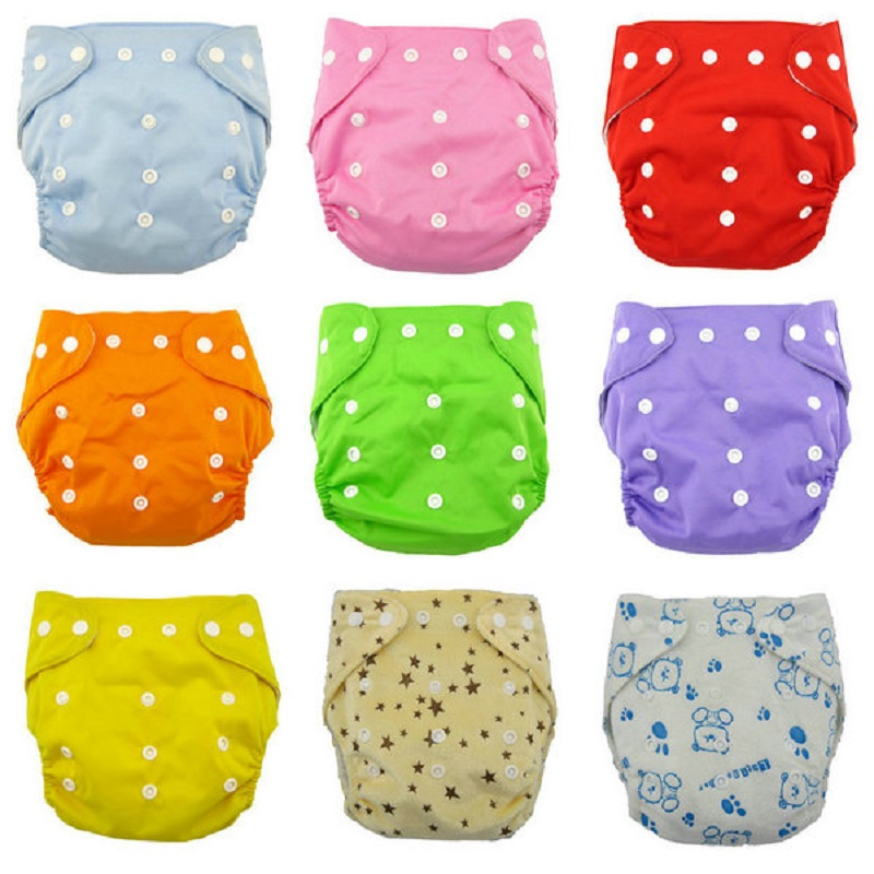 Soft Cover Washable Size Adjustable Reusable Baby Infant Nappy Cloth Diaper