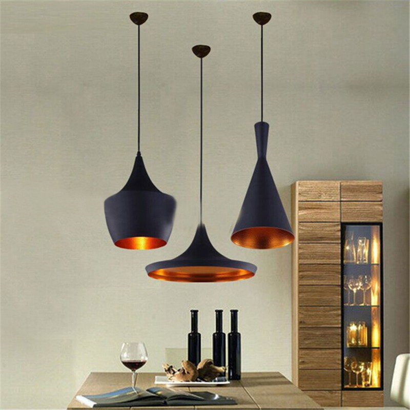 E27 vintage pendant lights loft lamp hanglamp restaurant for Suspension luminaire filaire