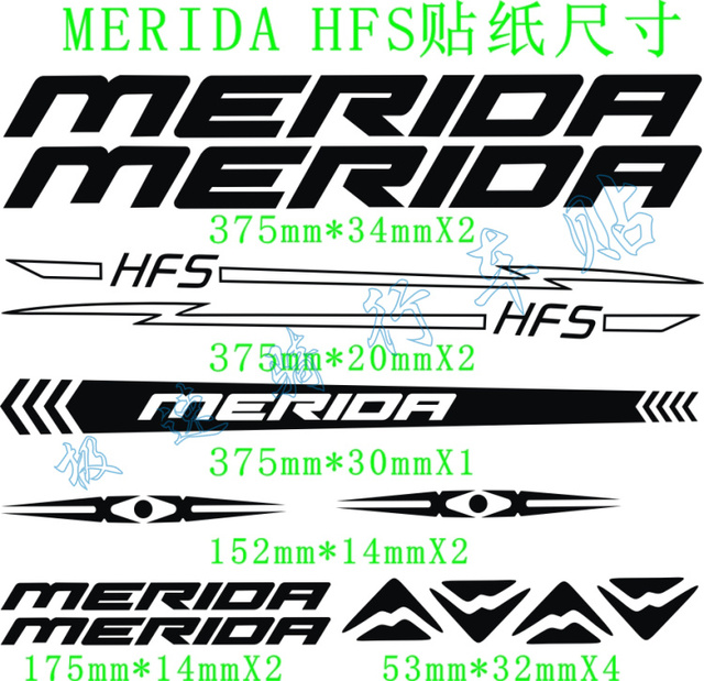 Reflective Bicycle Frame Stickers