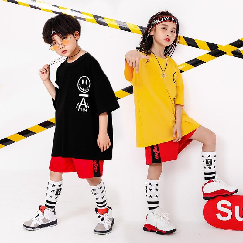 Boy Girl summer 2019 clothes Set 4 6 8 10 12 14 16T hip hop dance costumes kids Jazz set on the boy outfits kids clothes boys (8)