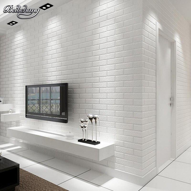Beibehang белая кирпичная стена спальня столовая обои современный 3D обои украшения дома обои для стен 3 d behang