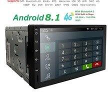 2din 7 »android 8,1 QuadCore 2 грамм + 16 ГРОМ 4 GWIFI Универсальный Автомобильный gps навигации мультимедиа автоаудио радио плеер TPMS DVR SWC DAB