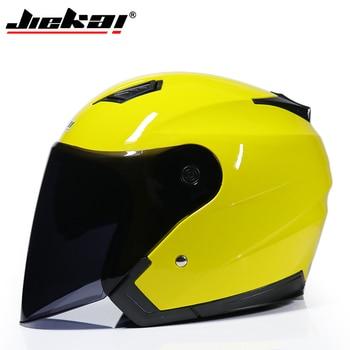 JIEKAI Motorcycle Helmets Electric Bicycle Helmet Open Face Dual Lens Visors Men Women Summer Scooter Motorbike Moto Bike Helmet 20