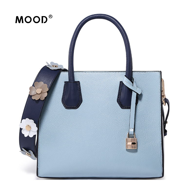 MOOD handbag brand Genuine Leather locks bag high quality contracted fashion shoulder inclined large capacity bag Free shipping free shipping high quality ink cartridge compatible for hp835 836 ip1188 large capacity