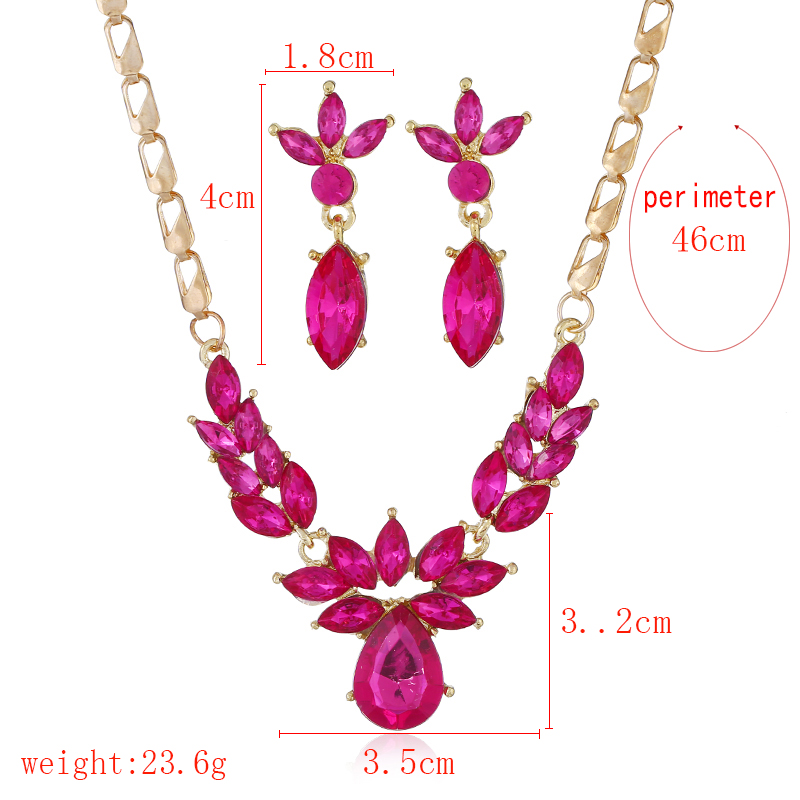 WNGMNGL 2018 Fashion Crystal Wedding Jewelry Sets for Women Brides Party Costume Jewellery Luxury Bridal Necklace Earrings Women in Jewelry Sets from Jewelry Accessories