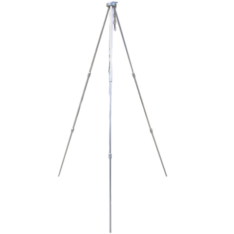 Image 2 - Outdoor camping equipment Fire Triangle Bracket Picnic BBQ Cooking Tripod Pot Hanging Camping Stove Grill Stand Holder im-in Outdoor Stoves from Sports & Entertainment