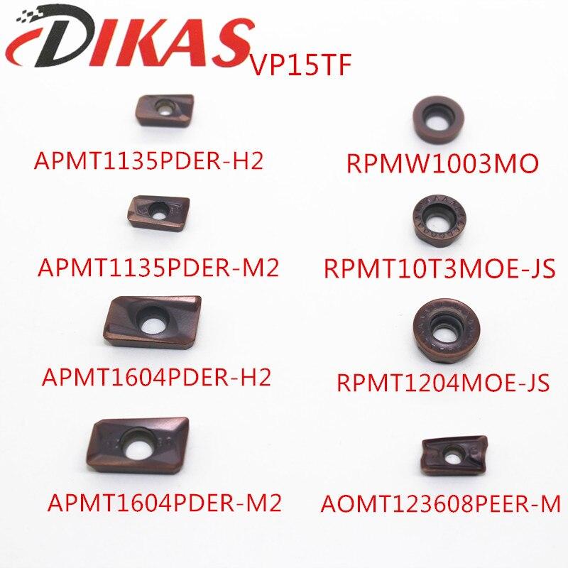 APMT1135PDER/APMT1604PDER H2/M2 RPMW1003MO RPMT10T3MOE RPMT1204MOE AOMT123608 VP15TF Mitsubishi Milling Cutter Carbide Insert