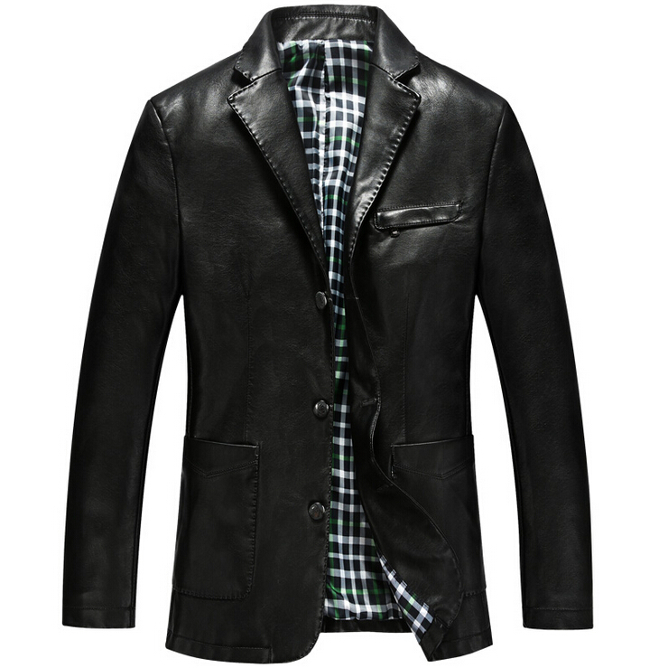 New Autumn And Winter Fashion Mens Leather Jackets And Coats Suit Collar Male Leather clothing Sheep leather jackets For Man