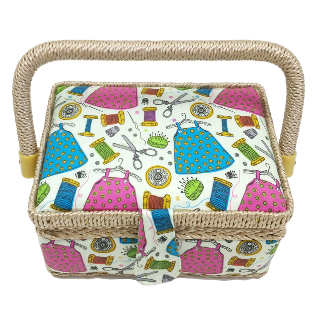 Handmade Sewing Basket : D new fashionable handmade wooden craft sewing basket