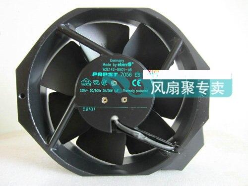Original German papst W2E142-BB01-98 7056ES 230V all-metal high-temperature fan original ebmpapst17238 230v w2e142 bb01 01 cooling fan