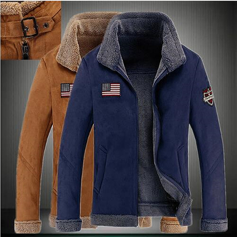 Jackets Coat Thick New Male One Fur with Lapels On-Sale Australian-Safari The Big-Yards