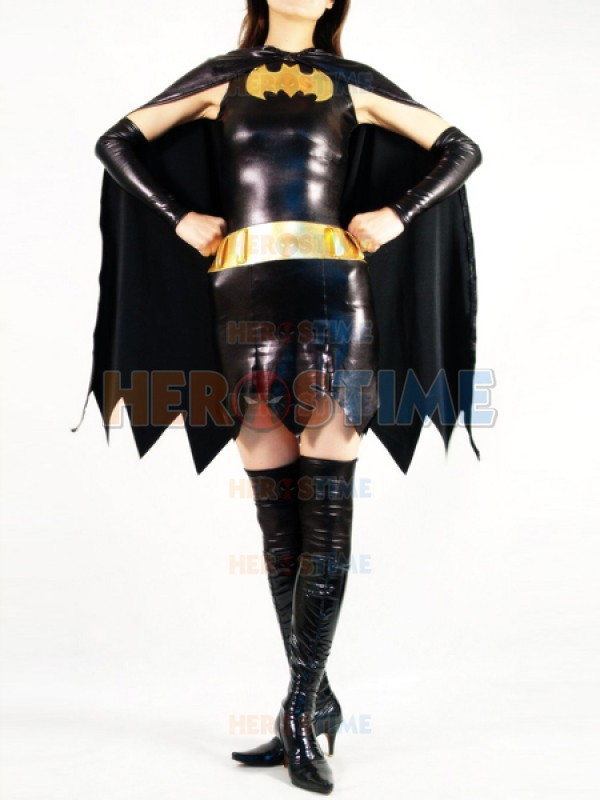 Batgirl Metallic Costume female halloween cosplay batman superhero costumes zentai suits the most popular