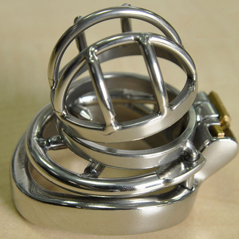 Stainless Steel Chastity Belt with Anti-Shedding Ring Penis Rings Restraint,Cock Cage,Male Chastity Device,Adult Sex Toy For Men 2016 adult male max security steel trap locking male chastity belt with cock cage and large crotch panel cbt slave restraint sex