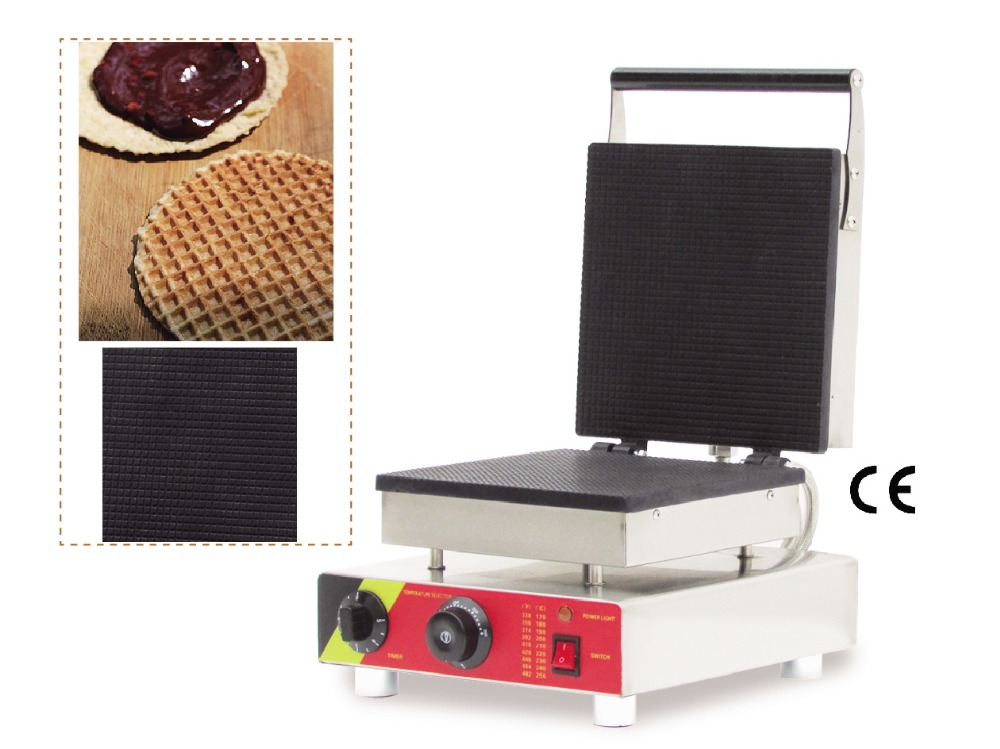Square Crispy Waffle Machine Stainless Steel Ice Cream Cone Maker for Crispy Waffle and Ice Cream Cone Making